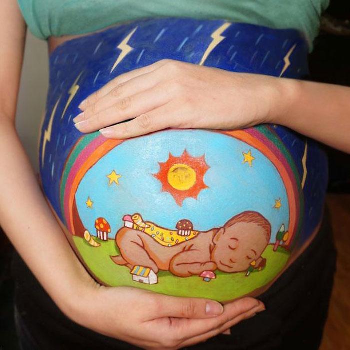 Картинка ребенок в животе у мамы для детей