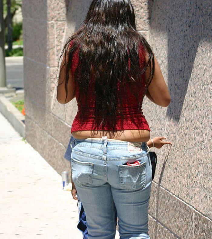 в джинсах толстые фото