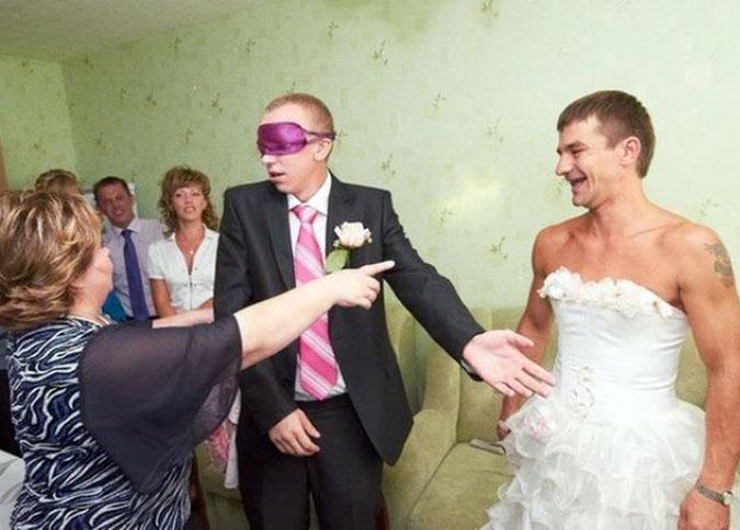 Странные свадебные фото из альбомов молодых пар. Часть 3