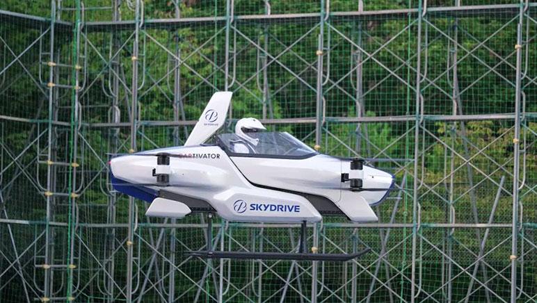 Японцы испытали летающий автомобиль с человеком на борту (фото, видео)